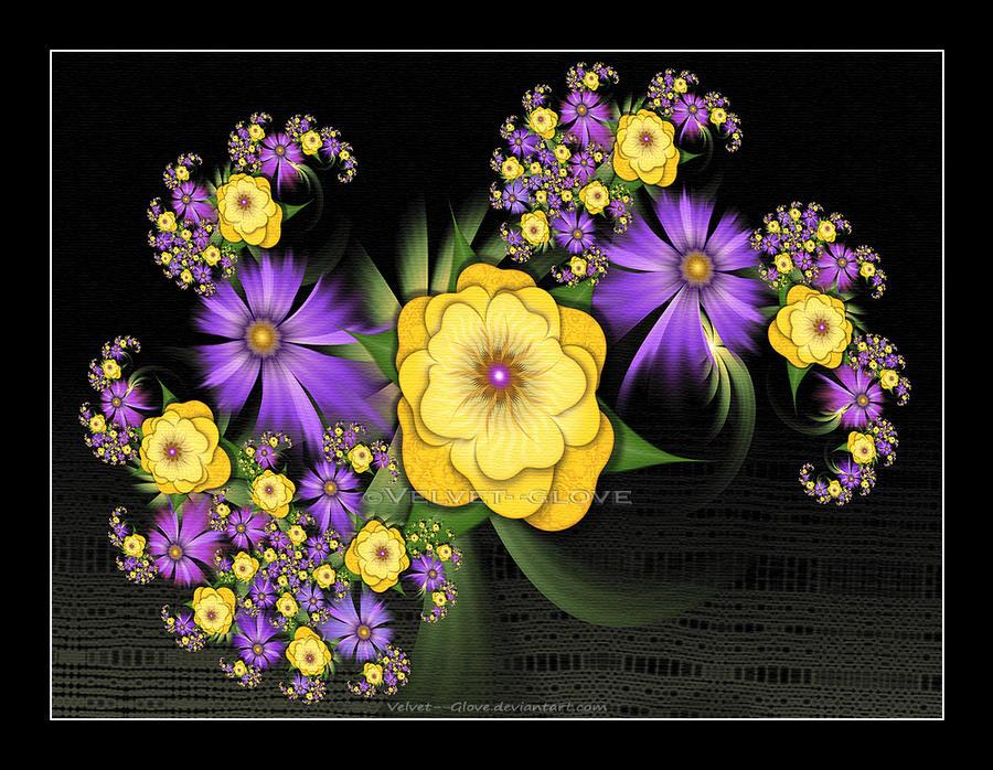 Last of the Summer Flowers by Velvet--Glove