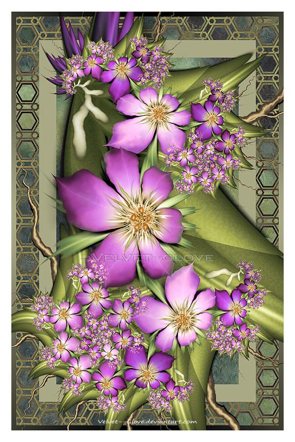 Violet Splendour by Velvet--Glove