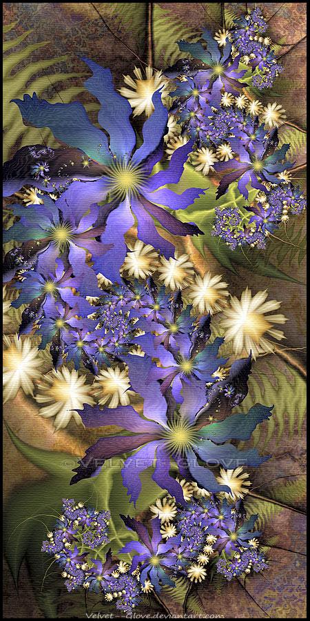Jungle Flowers by Velvet--Glove