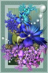 Iridescent Blooms by Velvet--Glove