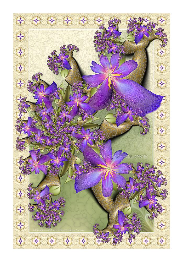 Phoenician Floral by Velvet--Glove