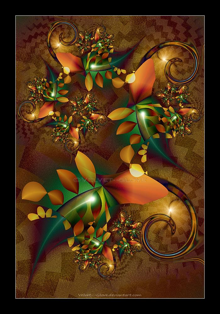 Swirling Leaves by Velvet--Glove