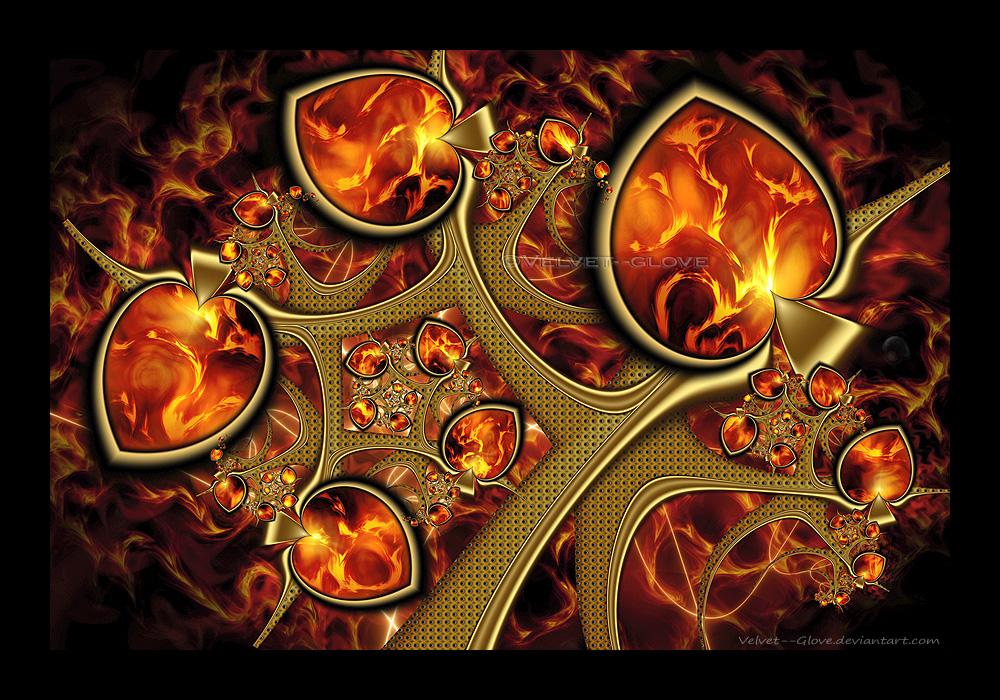 My Heart Burns For You by Velvet--Glove