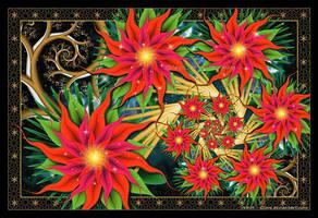 Festive Poinsettias by Velvet--Glove