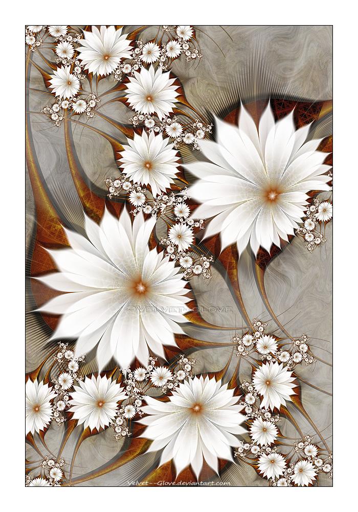 Sepia Flowerscape by Velvet--Glove