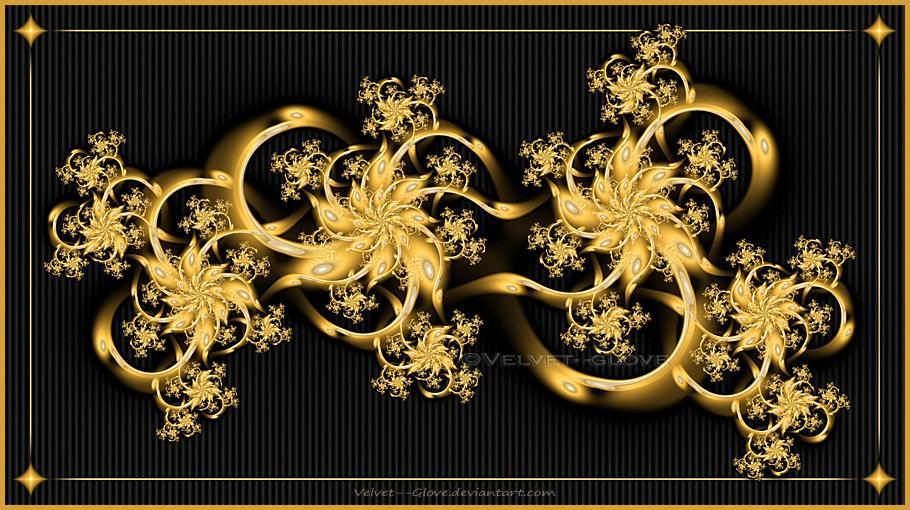 Golden Clusters by Velvet--Glove