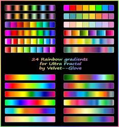 Rainbow gradient pack for Ultra Fractal by Velvet--Glove