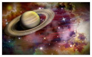 Mission to Saturn by Velvet--Glove