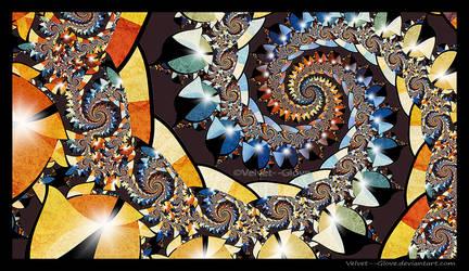 Rainbow Spiral by Velvet--Glove