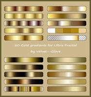 Gold Gradient Pack for Ultra Fractal