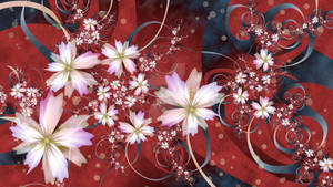 Flowers and Ribbons 4K