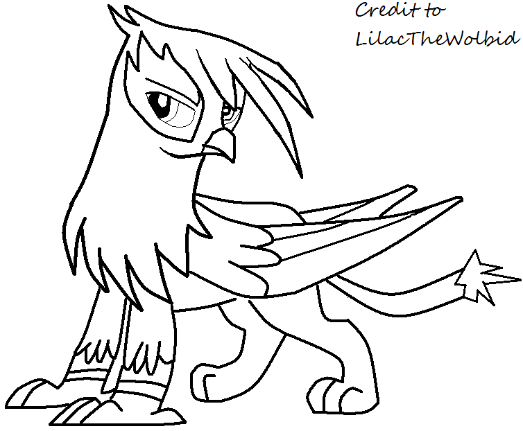 Mlp male griffon base by lilacthewolbid on deviantart for Griffon coloring page