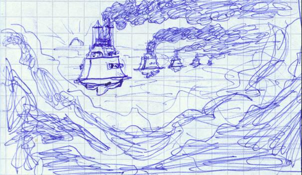 a pseudo british ship fleet- s