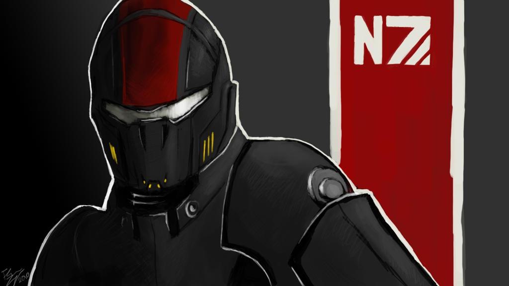 N7 Shepard by Scha11enkrieger