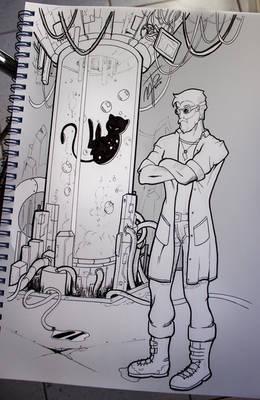 The old scientist - #inktober2017 Day5