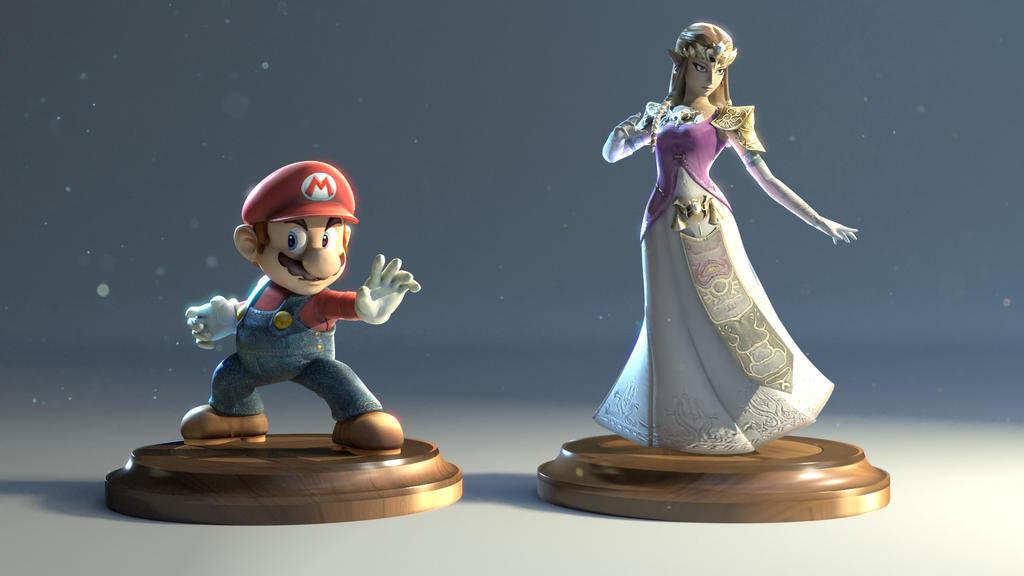 Smash Bros dream team by Kr1ger