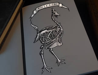 Chicken - Day 5 - Inktober2018 by Kr1ger