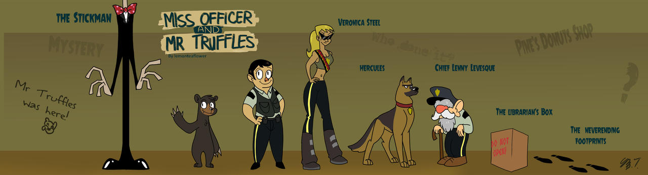 Ms Officer and Mr Truffles Character Lineup pt by alorix on DeviantArt