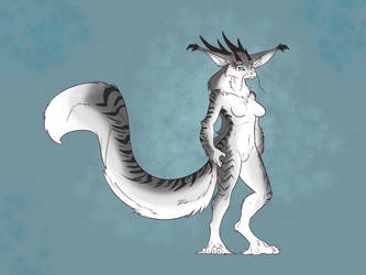 Commission: Fluffy Dragon