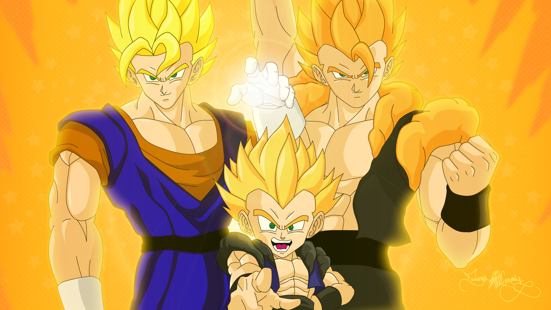 dragon ball z all fusion characters wallpaper 1113023. Black Bedroom Furniture Sets. Home Design Ideas