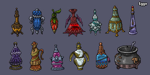 Potions and Elixirs Icons by 1gga