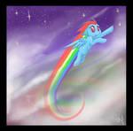 Rainbow Dash into the Blue
