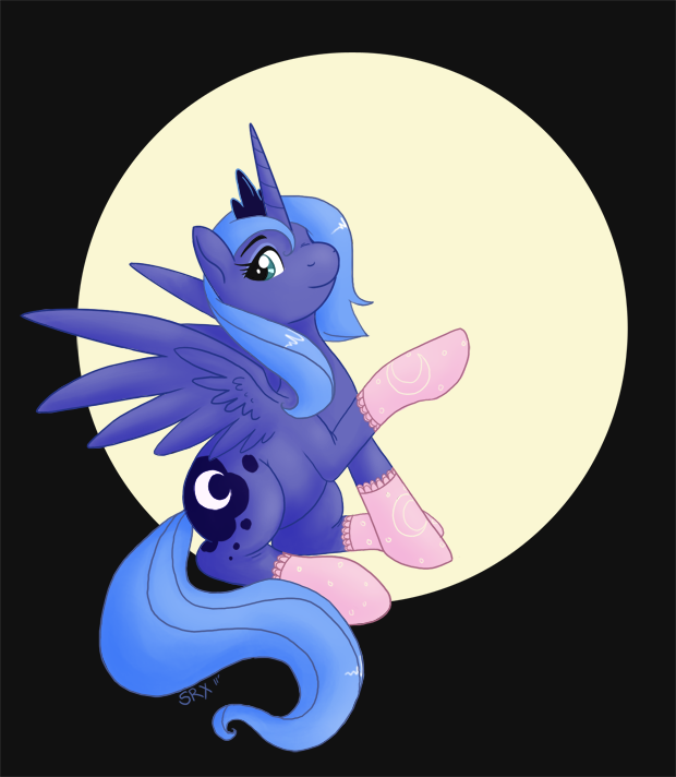 Luna in Socks by PterosaurPony