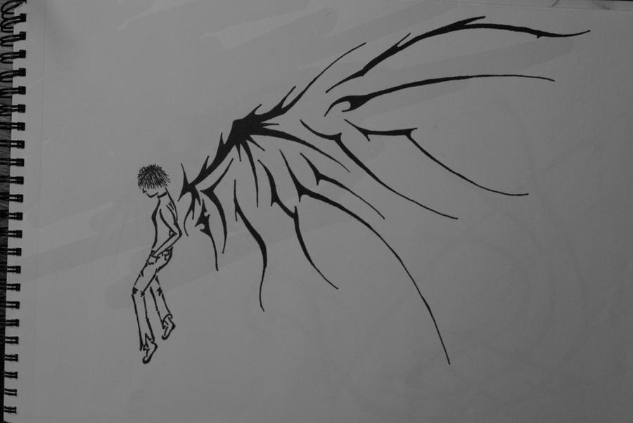 Angel And Demon Wings Drawings. coloringpages24x7.com.