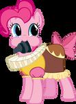 pinkie pie has a rock