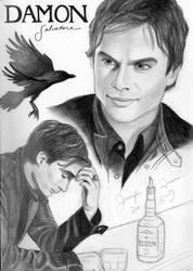 Damon Salvatore by HappyRaincloud