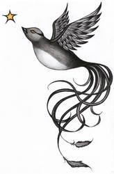 Bird Tattoo by HappyRaincloud