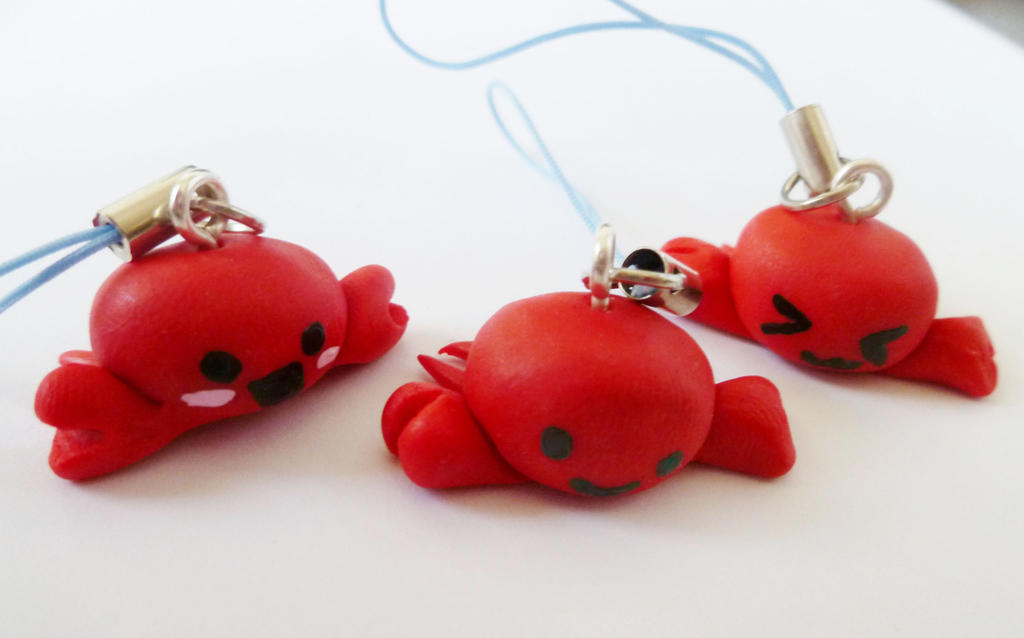 Kawaii Crab Charms by summerRhapsody