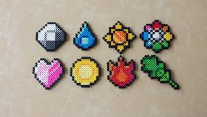 Kanto Gym Badges - Pokemon Perler Bead Sprites