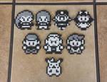 Red/Blue Sprites - Pokemon Perler Bead Sprites