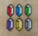 Classic Rupees - LoZ Perler Bead Sprites