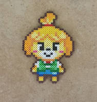 Chibi Isabelle - Animal Crossing: NL Bead Sprite by MaddogsCreations