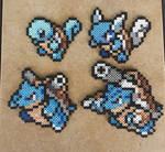 Squirtle Family - Pokemon Perler Bead Sprite Set