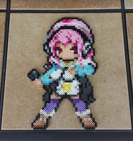 Commission: Custom Super Sonico Perler Bead Sprite by MaddogsCreations