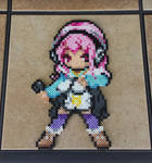 Commission: Custom Super Sonico Perler Bead Sprite