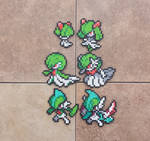 Ralts Family v.2 - Pokemon Perler Bead Sprites