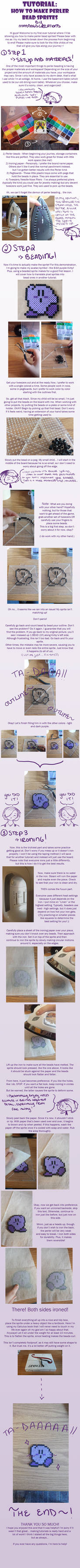 How to Make Perler Bead Sprites! - A Tutorial by MaddogsCreations on