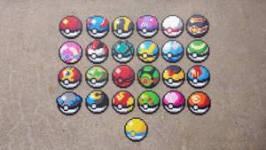 Pokeballs - Pokemon Perler Bead Sprites