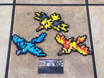 Legendary Birds - Pokemon Perler Bead Sprites