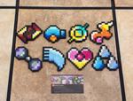 Hoenn Gym Badges - Pokemon Perler Bead Sprites
