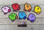 Color Parade - Kirby Perler Bead Sprites by MaddogsCreations