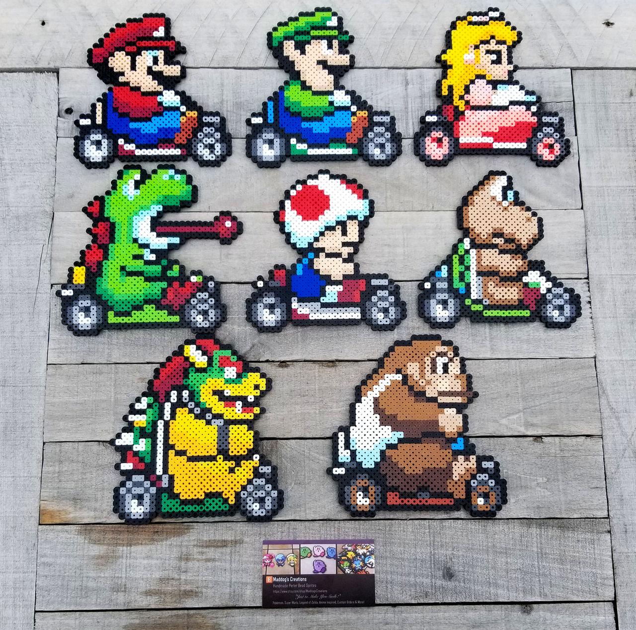 Mario Kart Video Game Perler Bead Sprites By Maddogscreations On Deviantart