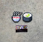 Ramen + Sushi - Food Perler Bead Sprites by MaddogsCreations