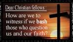 Dear Christian Fellows: by ChikitaWolf
