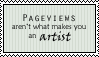 Pageviews don't make an artist by ChikitaWolf