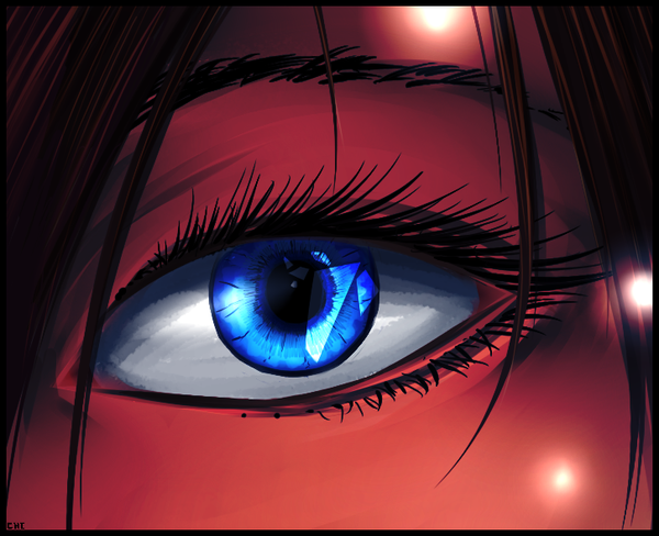 Kira Eye :. paint practice by ChikitaWolf